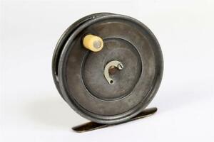 "Vintage c1920 ~ ""Hardy"" ""Patent Uniqua Reel"" 3 1/4"" Reel ~ George Stone   #2198"