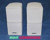 2 MINT Bose Lifestyle Jewel Double Cube Speakers White 25 30 50 V35 V25 V20