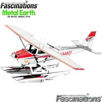 Metal Earth Cessna 182 Floatplane 3D DIY Steel Model Hobby Building Kit Plane