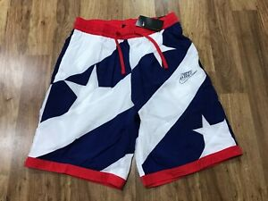 MENS LARGE - NWT Nike Throwback Stars & Stripes Mesh Lined Basketball Shorts