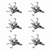 6pcs Hunting Archery Steel Sharp Tips Arrow Points Head 100 Grain Broadheads