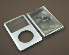 silver front faceplate + metal back case housing for ipod classic 7th thin 160gb