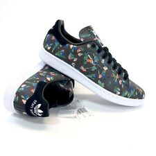 NEW Adidas Stan Smith Black Floral Low Sneakers EE4893 Women's Size 7.5 US