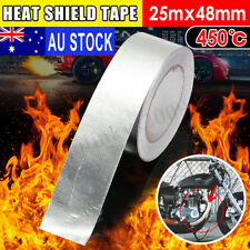 AUS 48mmx25m Aluminum Reinforced Heat Shield Tape Adhesive Backed Resistant  T