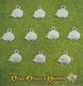❤ Small Hedgehog Charms (flat style) ❤ Pack of 10 ❤ CRAFTING/JEWELLERY MAKING ❤