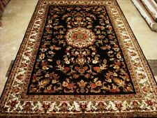 NWT Chocolate Brown Hand Knotted Rug Wool Silk Carpet (9 x 6)'