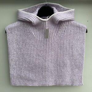 New COS Ribbed wool Knit Hood Pale Purple Pastel BNWT