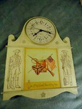 "Vintage Mid Century ""Revolutionary War""  General Electric  Wall Clock # 2169 USA"