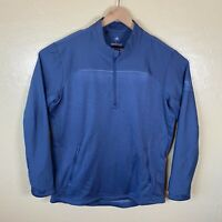 Adidas Golf Go To 1/4 Zip Jacket Sweater Pullover Mens Large Blue Golfer