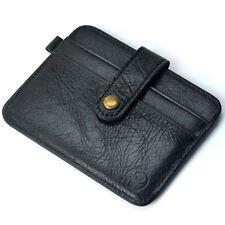 Fashion Leather Men Slim Credit Card Holder Mini Wallet ID Case Purse Bag Pouch