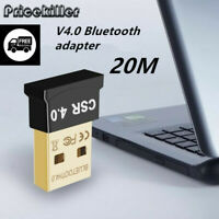 1xBluetooth 4.0 USB 2.0 CSR 4.0 Dongle Adapter for PC LAPTOP WIN XP VISTA 7 8 10