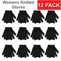 12 Pack Bulk Women Unisex Insulated Gloves Knit Winter Lot Wholesale Warm Cold