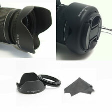 Professional 77mm Reversible Lens Hood For Nikon Canon Sigma Tokina Leica +cloth