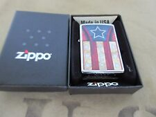 Zippo Stars & Stripes USA Flagge V8 Big Block Rockabilly Nose Art US Car Army #2