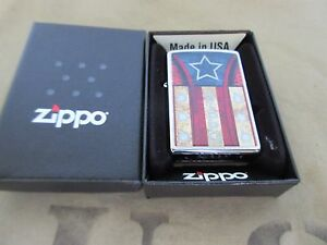 Zippo Stars & Stripes USA Flagge V8 Big Block Rockabilly Nose Art US Car Army #2