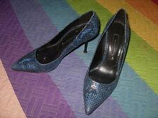 zapatos serpiente zaul Zara Woman talla 36 tacon negro ver fotos varias
