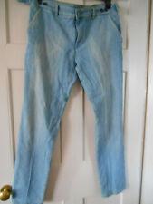 """Nouveau NFY NOTIFY chino Italie jeans denim bleu coton poches réglable taille 38"""""""