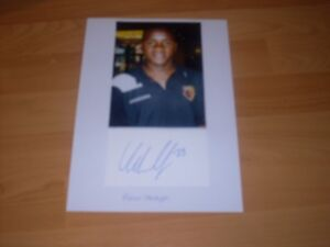 signed card on A4 sheet 7x5 photo of  ex watford footballer adrian mariappa