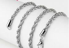 on sale Men's jewelry Stainless Steel necklace rope chain silver 4mm*21.6''