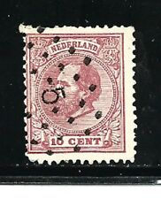 Netherlands Stamps- Scott # 25/A5-10c-Canc/LH-1872-88-NG