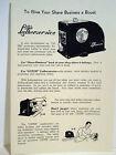 """1940's Vintage Barbershop Oster Supplier HOT """"LATHERSERVICE"""" MODEL Sign Ad"""