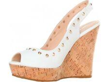 Studs Wedge Sandals-Sandalo Zeppa borchie sughero donna GAS YK110  bianco N. 41