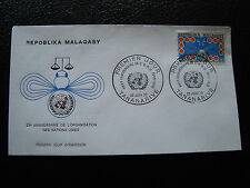 MADAGASCAR - enveloppe 26/6/70 - anniversaire onu - yt n° 475 - (cy9)
