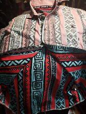 Vintage VANS Aztec Print Short Sleeve Button Shirt Men Medium