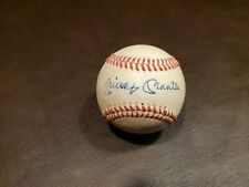Mickey Mantle Red Stitched Autographed Baseball Reprint