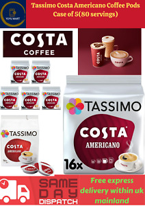 Tassimo Costa Coffee Pods (Case of 5,  40 servings) (Flavours Collection)