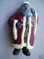 """Vintage Santa Claus Plastic Ornament Christmas Tree Deco 5"""" Tall figurine"""