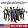 7Pcs/Set DC Comic Justice League Superman Wonder Woman Batman Action Figure Gift