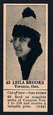 1925 Dominion Chocolate Sports Card #63 Leila Brooks (Speed Skating)