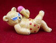 "Danbury Mint Teddy Bears Figurine Collection ""Beach Brun Bear"" Fine Bone China"
