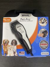 New WAHL Pet Pro Plus Complete 12 Pc Pet Clippers Kit Grooming Hair Dog Trimmers