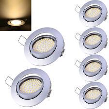 6X 5W LED Einbaustrahler Ultra Flach Deckenspot Schwenkbar Warmweiß Rostfrei 40°