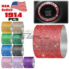1914 pcs Self Adhesive Rhinestone Crystal Bling Stickers Round Pearls iphone Car