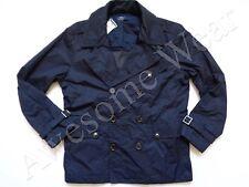 New Ralph Lauren Polo Navy Lightweight Cotton Windbreaker Peacoat Jacket Slim XL