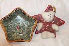 2001 Red Little Star Longaberger Basket Combo w/Matching Longaberger Boyds Bear