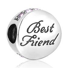 Best Friend Charm - European Silver Charm Bead - Birthday Gift - Wedding Gift