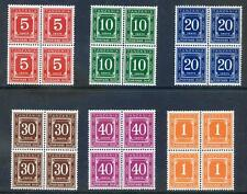 Tanzania 1971 Postage Dues on glazed paper blocks 4 unm.  mint (2016/11/21#02)