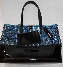 NEW Just Cavalli  Transparent Blue/ Black beach bag + purse  RRP £169