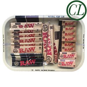 Christmas Gift Smoking Tray Set Grinder RAW Rolling Paper Tips Holder Rolls UK