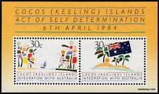 1984 Integration Cocos Keeling Islands Minisheet Mint Stamps Australia