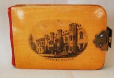 Mauchline Transfer Ware Aide Memoire Pocket Diary Cardiff Castle w/o Bone Pencil