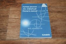 Vintage Casio fx-7700GB Scientific Calculator MANUAL ONLY INSTRUCTIONS GUIDE