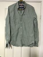 Superdry Green Casual Shirt Size Medium Mens Long Sleeve Great Condition (E41)