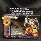 Transformers Headmaster Weirdwolf Hasbro 2021 Sealed Reissue