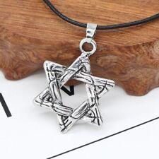 Star of David Pendant & Necklace Chain christian Israel Jewish Silver Judaism