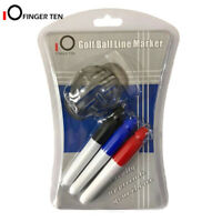 Golf Ball Line Marker Drawing Tool with 3 Marks Pens Set Template Alignment Tool